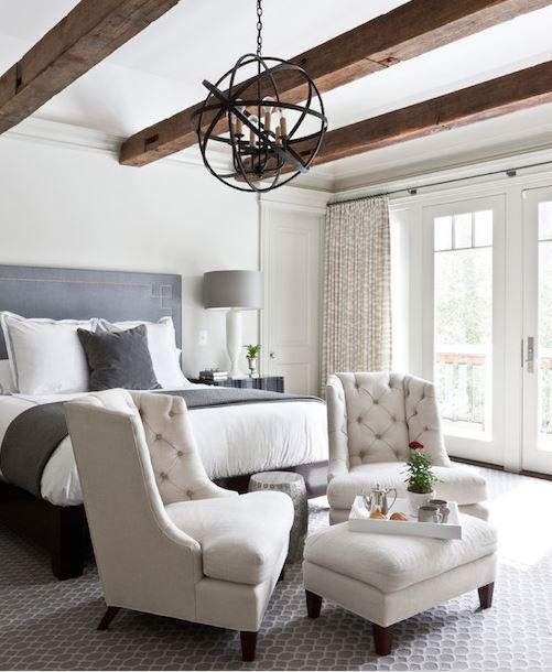 A bedroom seating area - Decorpad via Pinterest