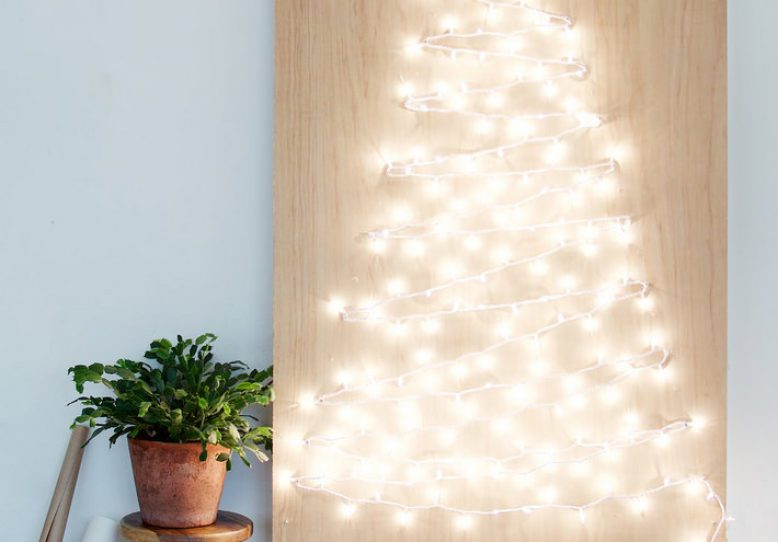 decorating for christmas with fairy lights