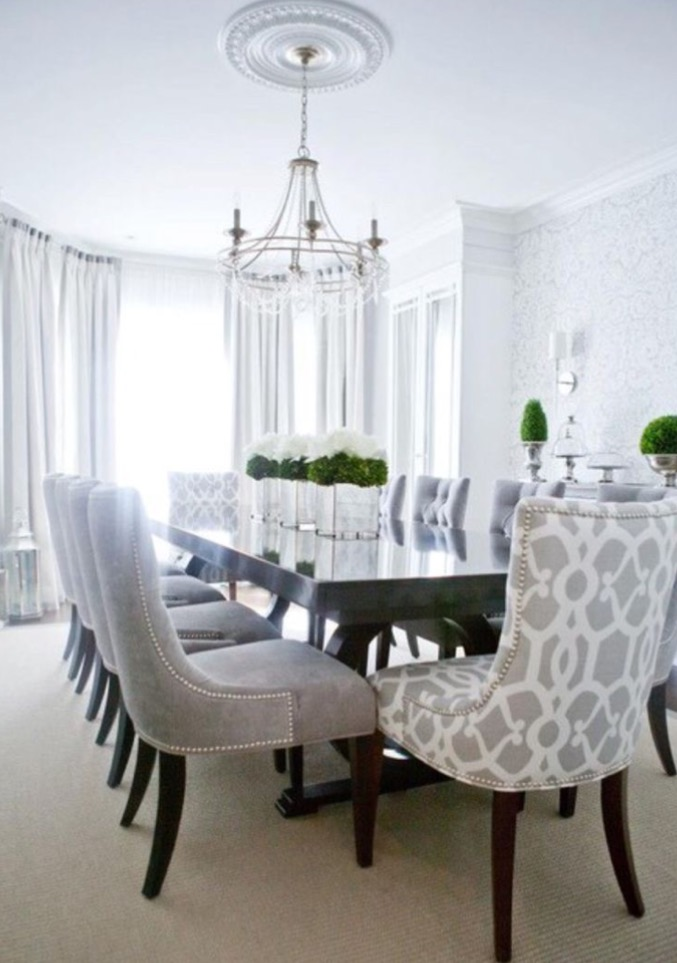 dining room decorating feature chairs