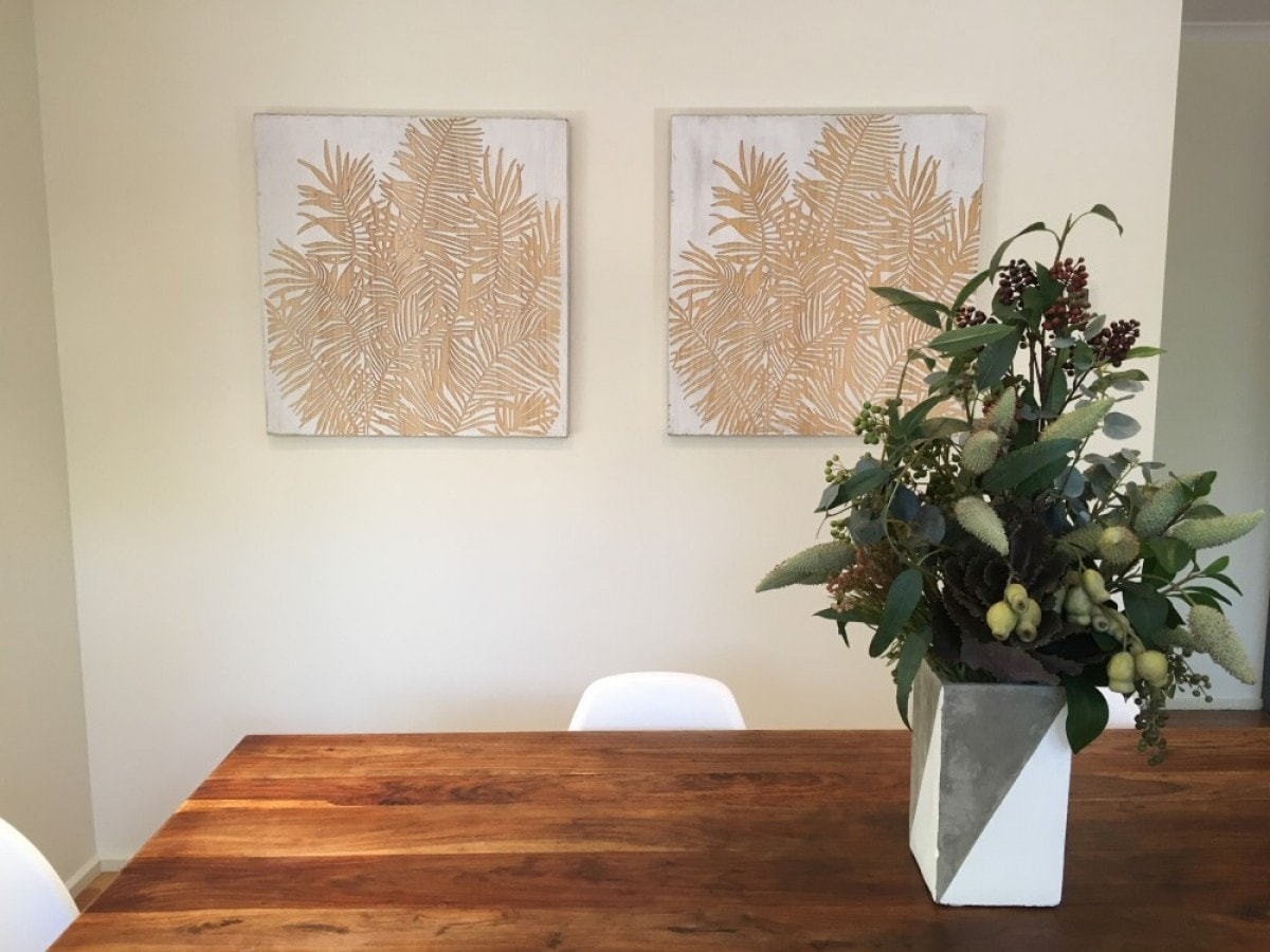 dining room property styling Melbourne