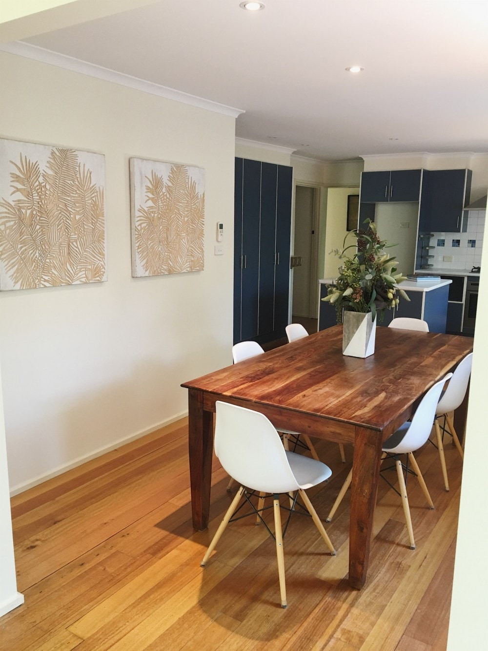 dining room eclectic mix of furniture property styling Melbourne