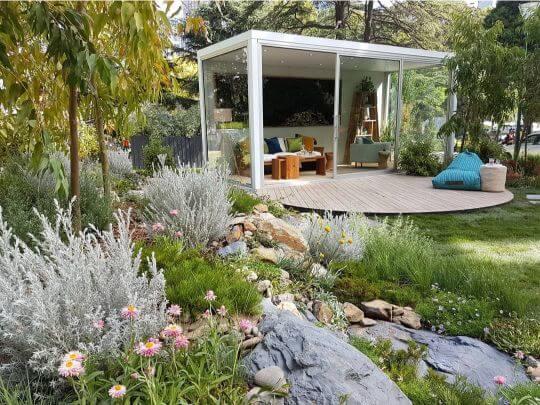 outdoor living spaces Melbourne international flower and garden show - Melbourne Interior Design - Leeder Interiors