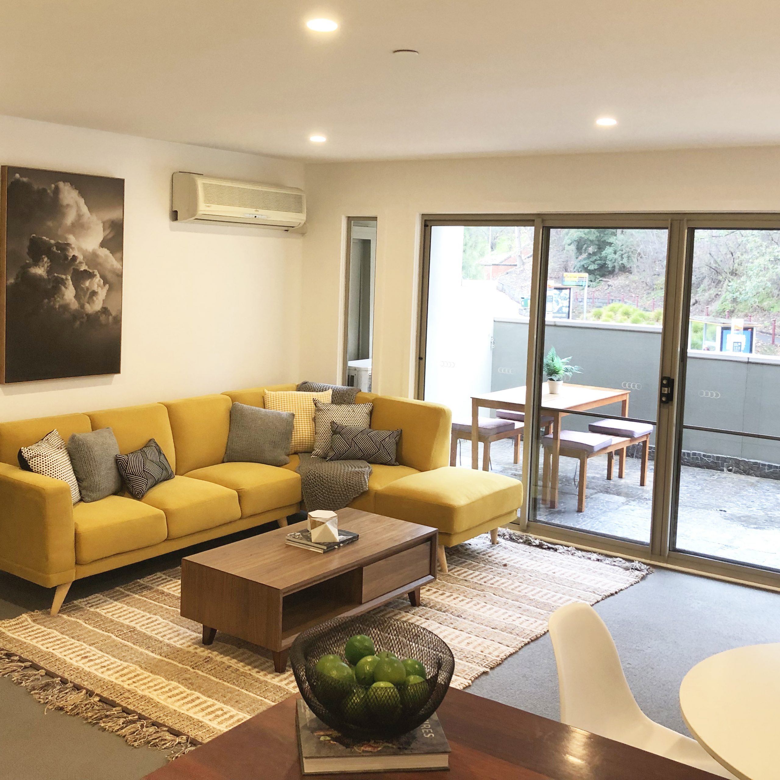 Apartment Living Room - Melbourne Home Staging - Leeder Interiors