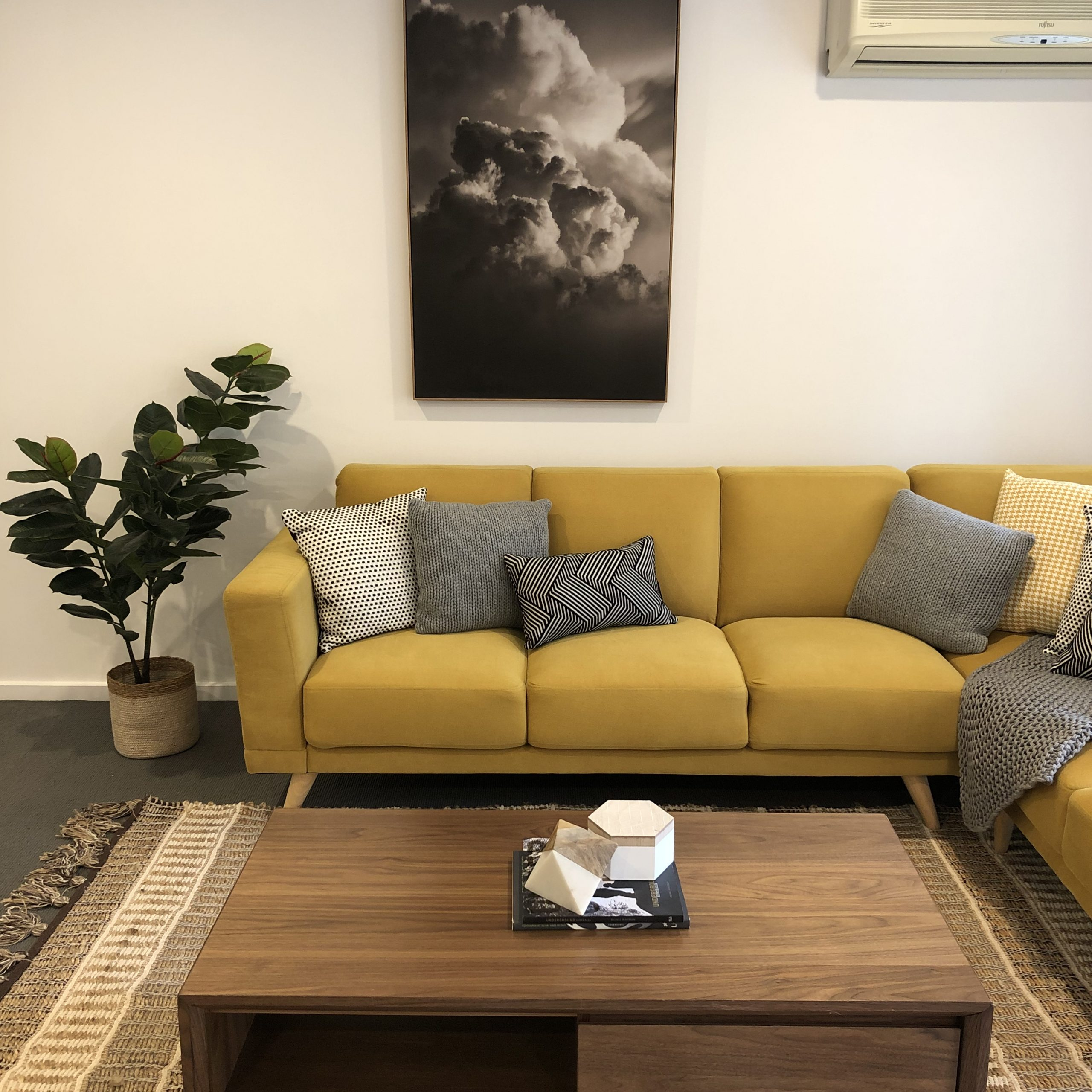Contemporary Living Room - Property Styling Melbourne - Leeder Interiors