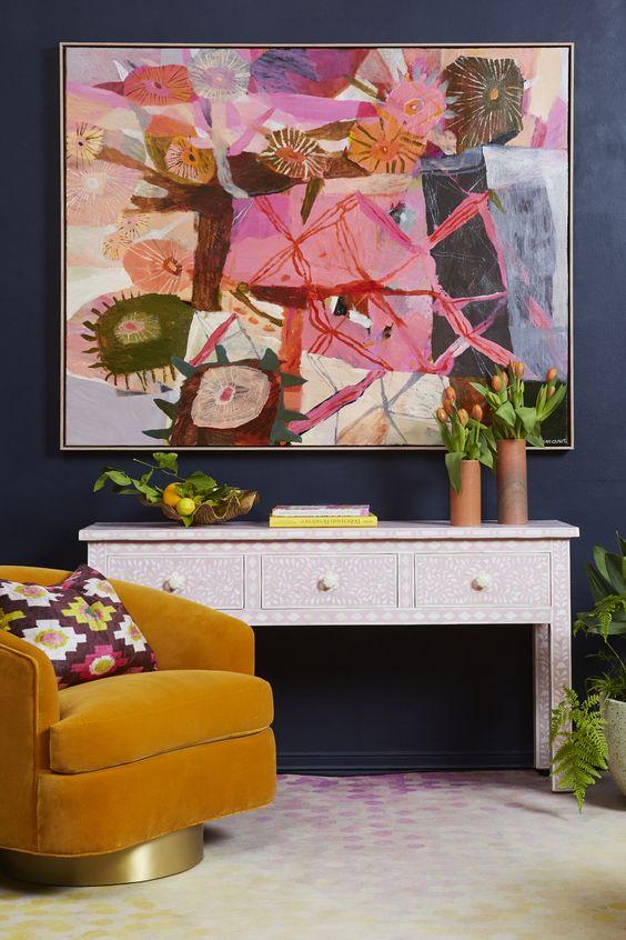 A colourful and fun living room - Luxury Interior Design Melbourne - Leeder Interiors