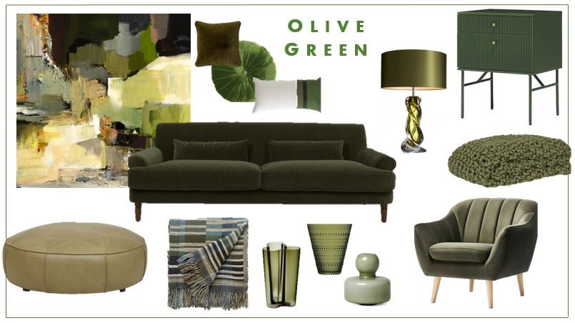 Olive Green colour trends - eclectic interior design - Leeder Interiors