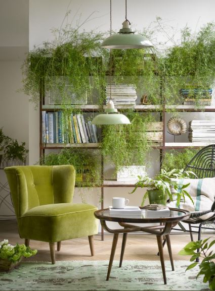 Green living room - colourful interior design - Leeder Interiors