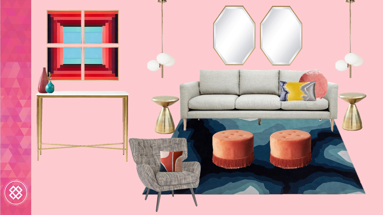 1 sofa styled 3 ways - Colourful Interior Design Melbourne